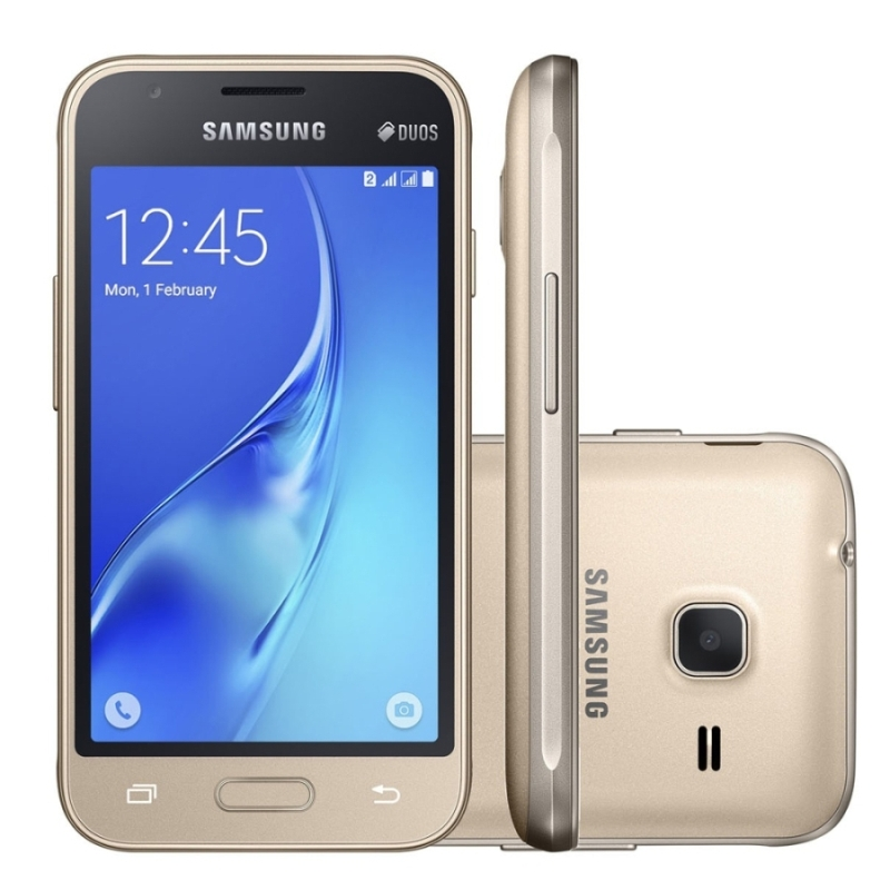 Smartphone galaxy j1, mini j105b dourado,android 5.1, 8gb, 5 mp, 3g - desbloqueado