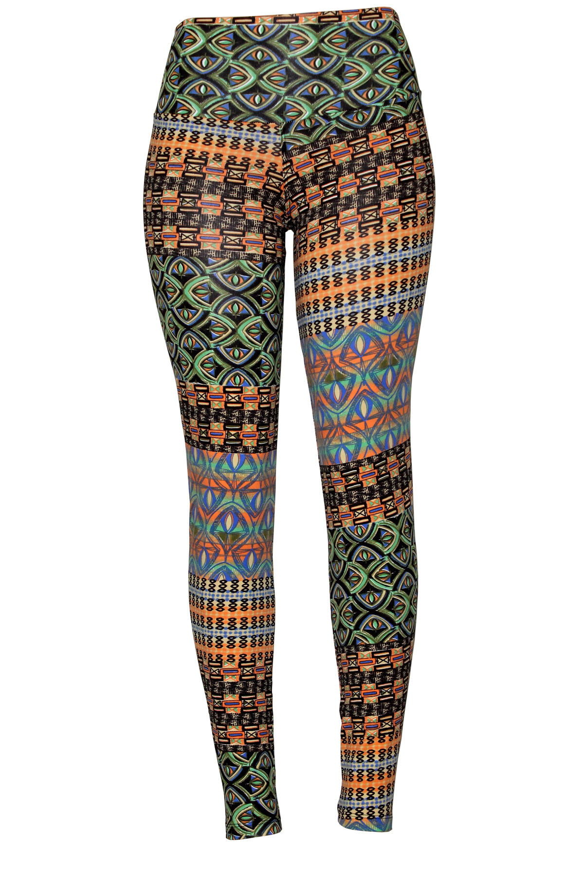 Calça legging indiana multicor