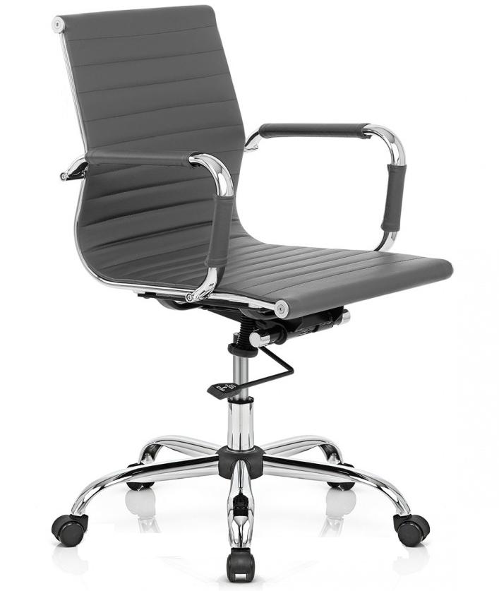 Cadeira diretor office esteirinha charles eames 3301b - cinza